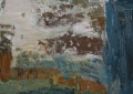 2007 - Zikr # 57 - Oil on Canvas, Pigments on Panel (Triptych) - 12 x 45 inch